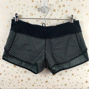 lululemon athletica Shorts - Lululemon | Speed Short Black White Polka Dot 6